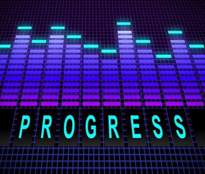 Illustration depicting equalizer levels with a progress concept.