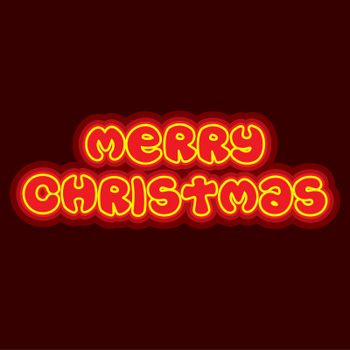 creative merry christmas typography with glow style design