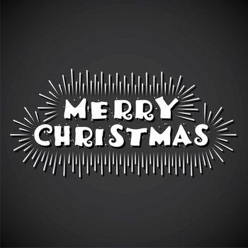 creative merry christmas typography design