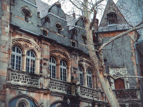 Vajdahunyad Castle in the City Park of Budapest
