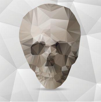 Human Skull in a Triangular Style