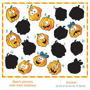 Visual puzzle - Match the pictures to their shadows