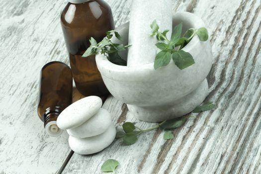 herbal medicne and flower