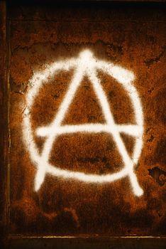 Anarchy symbol graffiti
