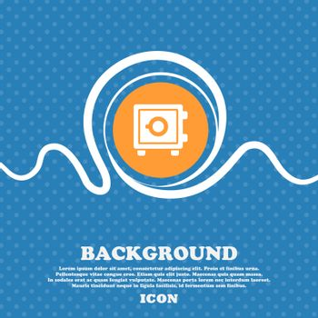 Safe icon sign. Blue and white abstract background flecked with space for text and your design. Vector illustration