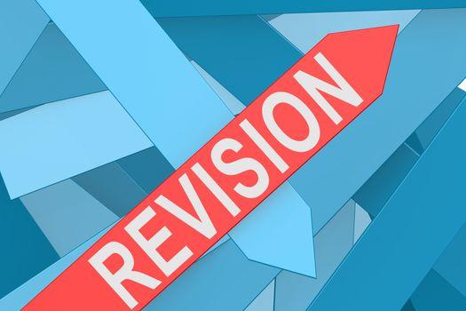 Revision arrow pointing upward