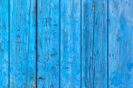 Rustic blue planks surface