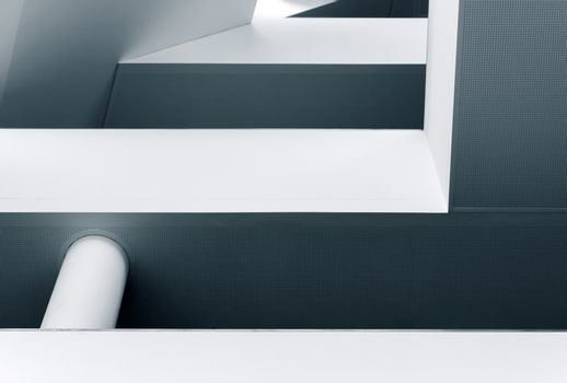 Abstract lines and shapes of modern architecture interior