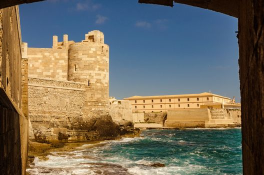The castle in Siracusa - Sicily