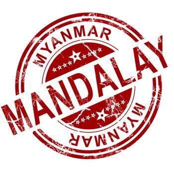 Red Mandalay stamp