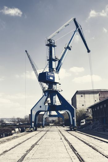 Crane operating in the recycling area
