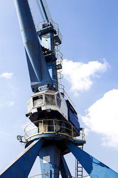 Crane in the harbor