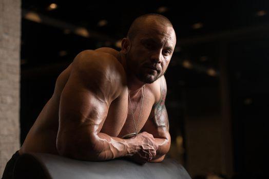 Bodybuilder Resting