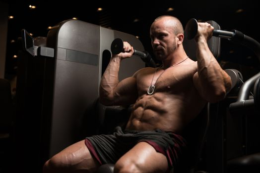 Triceps Exercise In A Gym