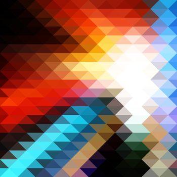 Bright Colorful Triangular Polygonal Mosaic Background. Vector illustration