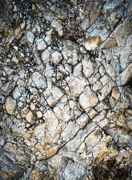 cracked limestone quartz rock