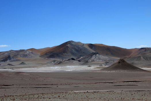 Beautiful landscape and mountains, Atacama desert, Chile