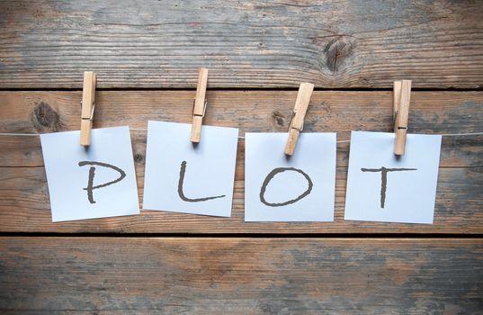 Writers plot washing line concept