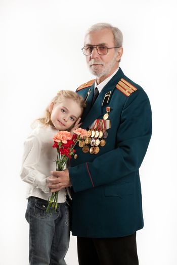 Army Veteran And Little Girl