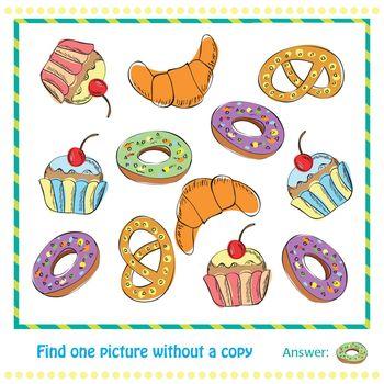 Vector Illustration - Educational Game for Children