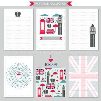 London United Kingdom printable collection