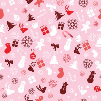 Christmas seamless wrapping paper pattern