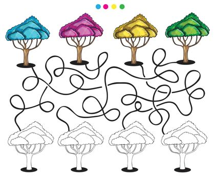 Visual puzzle and coloring page
