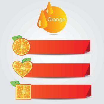 Shapes of orange fruit - vector illustration on white background