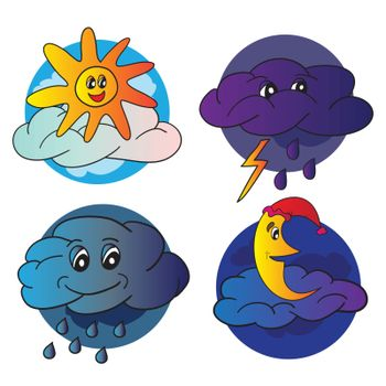 Weather bright icons  - vector illustration for design