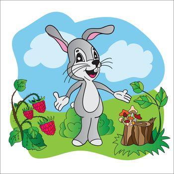 Cartoon cute hare