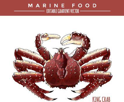 King Crab. Marine Food