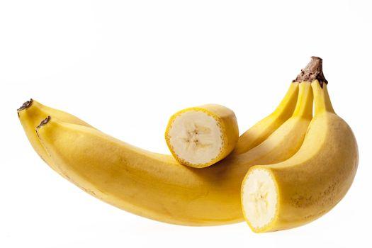 Fruits of banana isolated on white background.