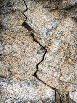 fissure in the limestone