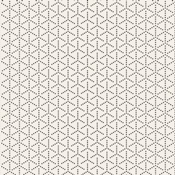 Vector Seamless Black and White Circles Halftone Pattern. Abstract Geometric Background Design.