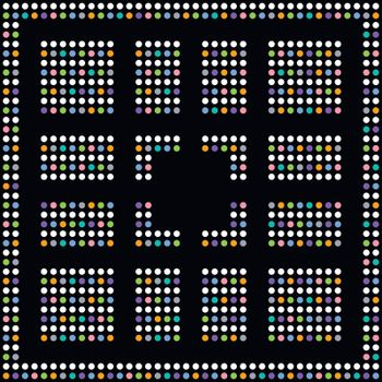 colorful dot theme art maze