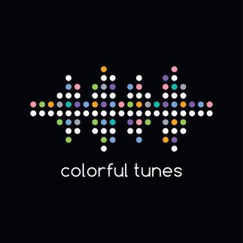 colorful dot theme art equalizer