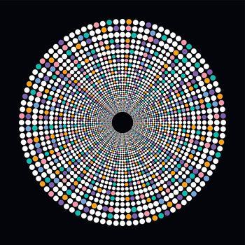 colorful dot theme art