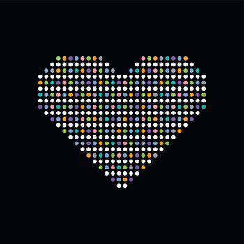 heart colorful dot theme art