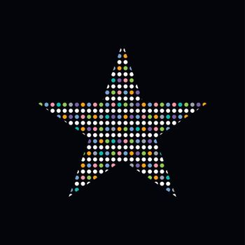 colorful dot theme art star