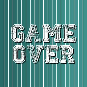 grungy art greeting game over