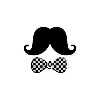 mustache bow tie