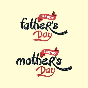 happy mother father day theme
