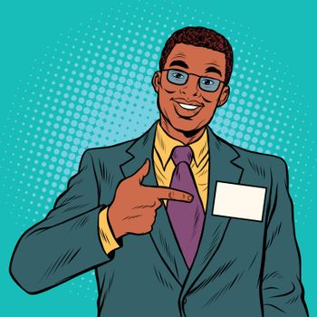 Businessman Manager with a name badge