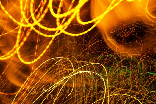 Traffic light paint with long exposure