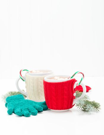 Candy Cane Hot Chocolate Portrait