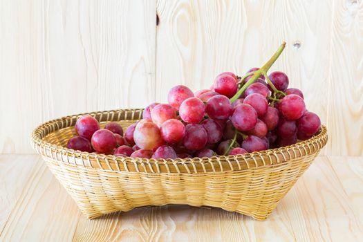 Grape in a fruit tray