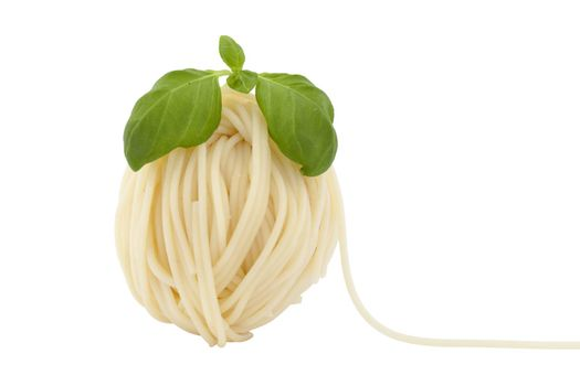 spaghetti in shape ball