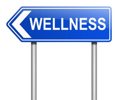 Illustration depicting a sign with a wellness concept.