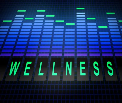 Illustration depicting graphic equalizer levels with a wellness concept.