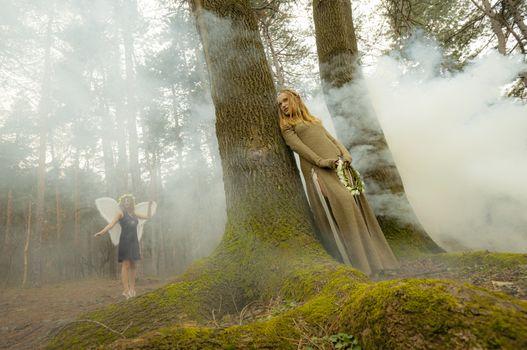 Elf female fairytale forest